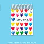 Color Hearts Mini Notebook