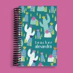 Teal Cactus Pocket Notebook