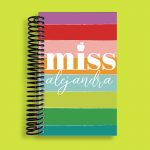 Rainbow Teacher Pocket Notebook