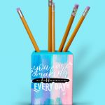 Color Difference Pencil Holder