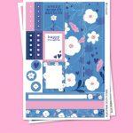 Blue Spring Stickers para Planner