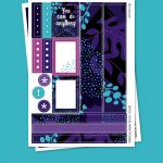 Tropical Night Stickers para Planner