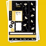 Bees Stickers para Planner