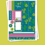Cactus Stickers para Planner