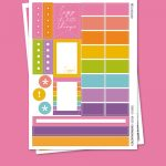 Color Moments Stickers para Planner