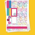 Travel Stamps Stickers para Planner