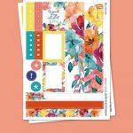 Watercolor Bouquet Stickers para Planner