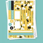 Yellow Field  Stickers para Planner