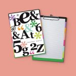 Big Letters Clipboard
