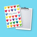Color Heart Clipboard