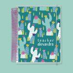 Teal Cactus Notebook