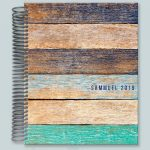 Teal Old Wood Business Notebook