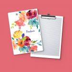Watercolor bouquet Clipboard